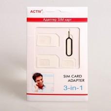 Адаптер Activ для SIM карт 3 в 1 (white)