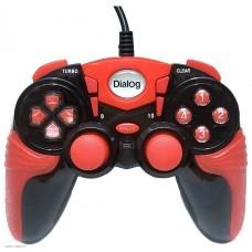Геймпад Dialog GP-A15 черно-красный проводной, 2 мини-джойстика, крестовина, 12 кнопок
