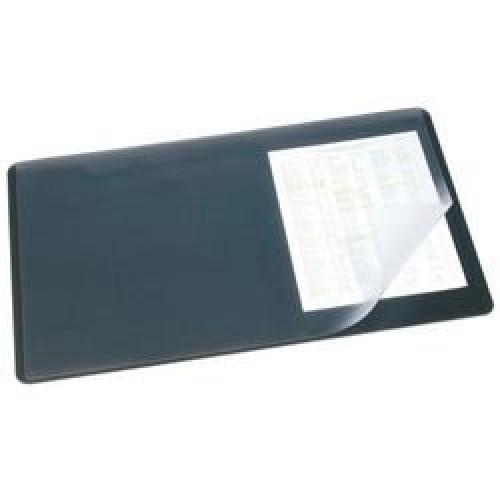 Накладка настольная 40х53см с прозрачным верхом черная (7202-01)