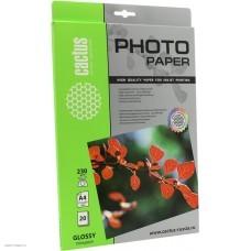 Фотобумага Cactus CS-GA423020 A4, 230/м2, 20л., глянцевая