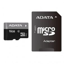 Карта памяти microSD Card16Gb A-data Premier Class10 HC UHS-I 40/15 MB/s + SD адаптер