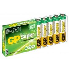 Батарейки щелочные GP Super Alkaline 24A LR03 AAA (10шт)