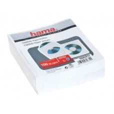 Конверт Hama бумажный для CD диска, 100шт (белый) H-62672
