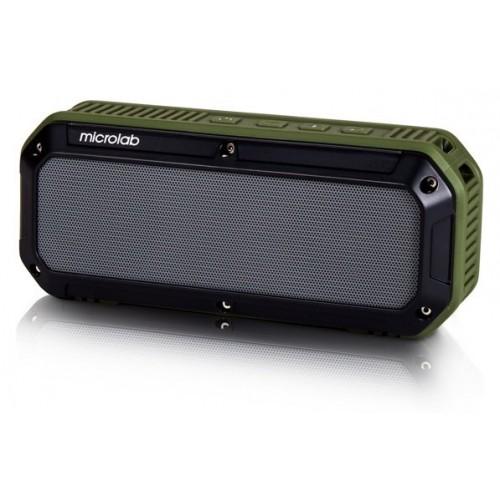 Мобильная акустическая система MICROLAB D861BT черно-зеленая