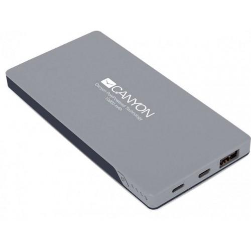 Портативный аккумулятор CANYON CNS-TPBP10DG bank dark gray 10000mAh