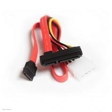 Кабель HDD SATA Combo интерфейсный+силовой (CC-SATA-C1)