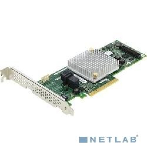 Контроллер SAS Adaptec ASR-8405 (PCI-E v3 x8, LP, SGL SAS 12G, RAID 0,1,10,5,6,50, 4port(int1*SFF8643) 1Gb (2277600-R)