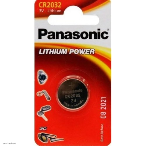 Эл-т питания Panasonic Lithium Power CR-2016EL (1шт.)