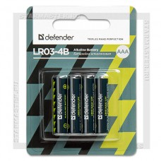 Батарейки алкалиновые Defender LR03-4B (AAA)