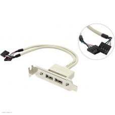 Планка портов USB Espada 0.5 метра низкопрофильная (EBRT-2USB2LOW)
