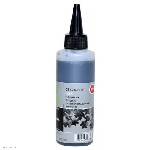 Чернила для картриджей Canon PIXMA G1400/G2400/G3400 black 100ml, GI-490BK (Cactus)