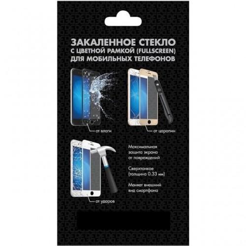 Защитное стекло DF для Meizu M5c, черная окантовка