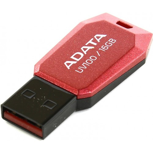 Накопитель USB 2.0 Flash Drive 16Gb A-Data UV100 red (AUV100-16G-RRD)