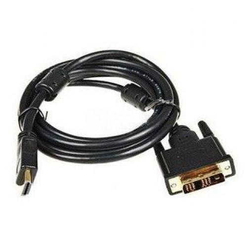 Кабель HDMI-DVI 19M 10м Buro чёрный, ферритовый фильтр (HDMI-19M-DVI-D-10M)