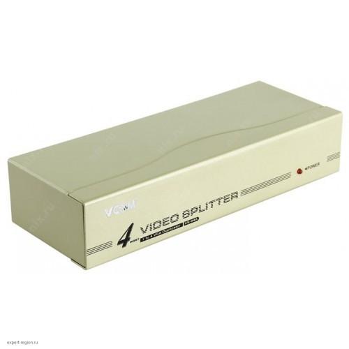 Разветвитель VGA VCOM 1 to 4 VS-94A Vpro 350MHz (VDS8016)
