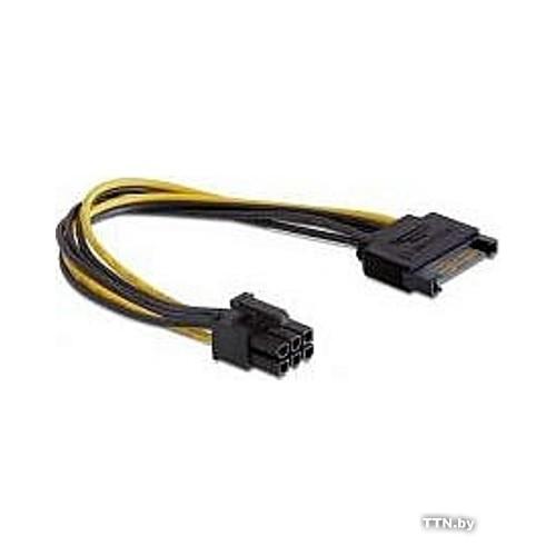 Разветвитель питания Cablexpert CC-PSU-SATA, SATA->PCI-Express 6pin, для подключения в/к PCI-Е (6pin) к б/п