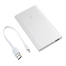 Портативный аккумулятор Xiaomi Mi Power Bank 5000, 5000mAh, 1xUSB, 2.1A, серебристый