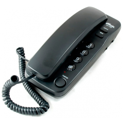 Телефон Ritmix RT-100 черный