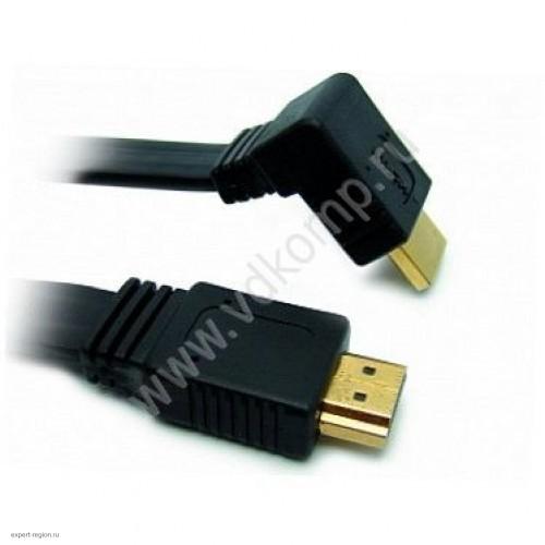 Кабель HDMI-HDMI v1.4 угловой Krauler, 7.5m (KR-HDMI1.4/90-7.5)