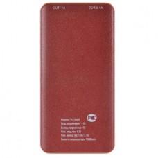 Портативный аккумулятор Buro T4-10000 Li-Pol, 10000mAh, 1A, 2.1A, 5V, 2xUSB, brown