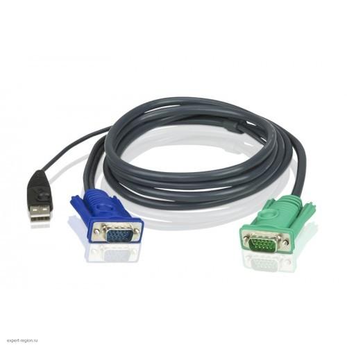 Комплект кабелей ATEN мон+клав+мышь USB 2L-5202U